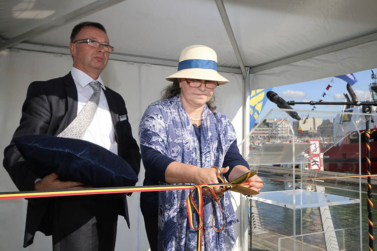 naming ceremony of the tug Southampton was performed by Lady Sponsor Mrs. Ariane Labargue
