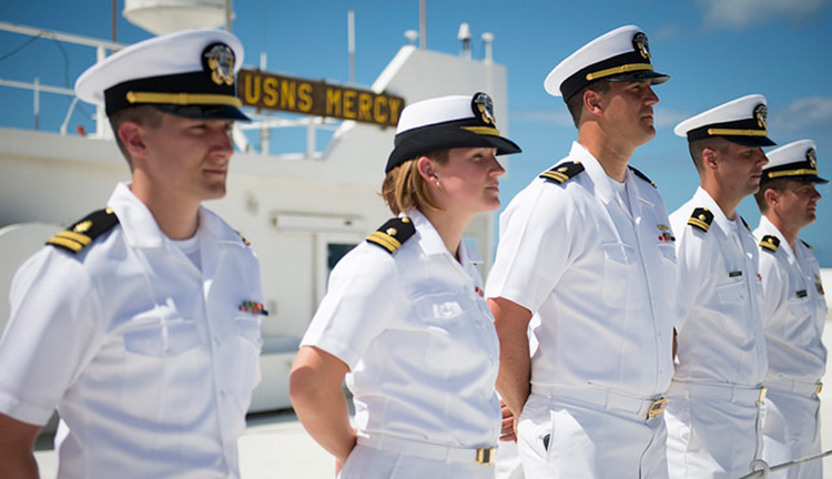 A ship has a permanent crew with a commanding officer. Image: