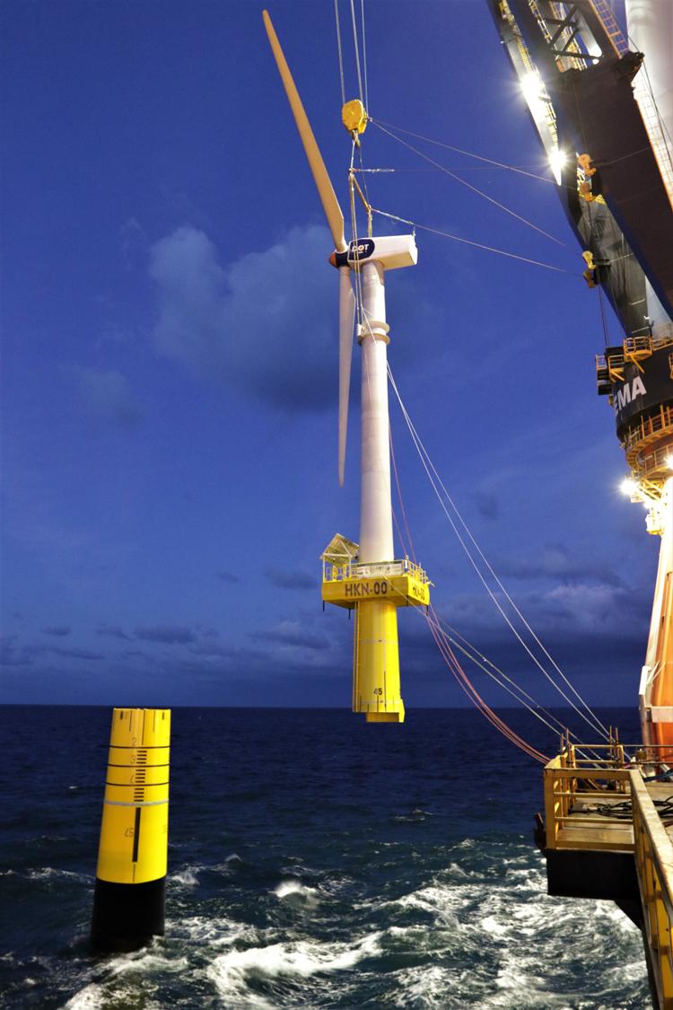 Heerema's DP3 Vessel Aegir Installs First Offshore Wind Turbine 9