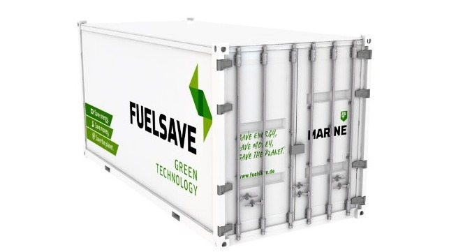 The FS MARINE+ Container has been designed to provide ship operators with a more cost-effective, plug-in and play version of its engine combustion optimisation and emissions abatement system