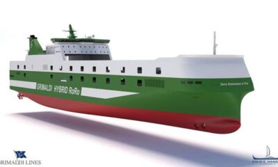 Kongsberg Awared Contract for Grimaldi's Nine Hybrid RoRo Vessels