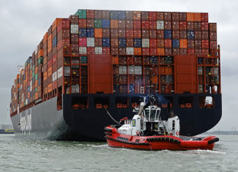 """15,000 TEU container ship """"Al Jmeliyah"""" christened in Rotterdam 1"""