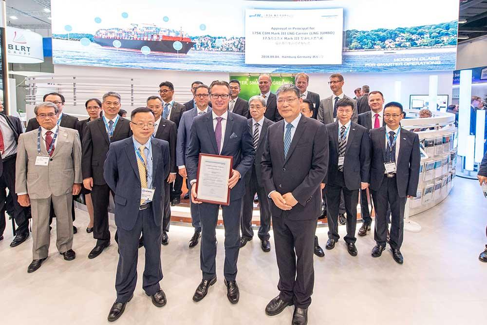 "DNV GL awards AiP to Jiangnan Shipyard for 175K CBM Mark III Flex LNG Carrier ""LNG JUMBO"""