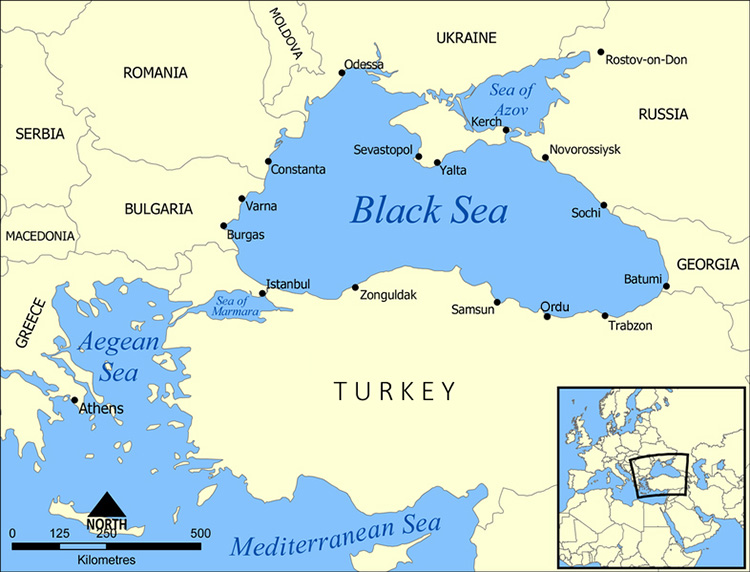 Black Sea Location | Black Sea Map