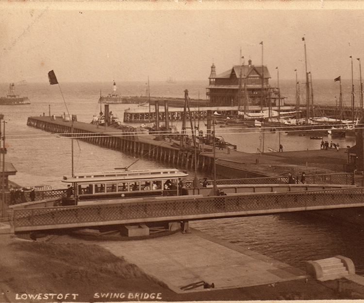 Postcards of Lowestoft's Swing Bridge in 1910, which was part of the Port of Lowestoft display at the Lifeboat Station during Open Heritage Days Festival