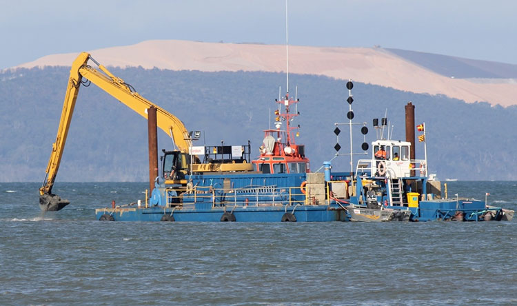 Dredging Operation in process