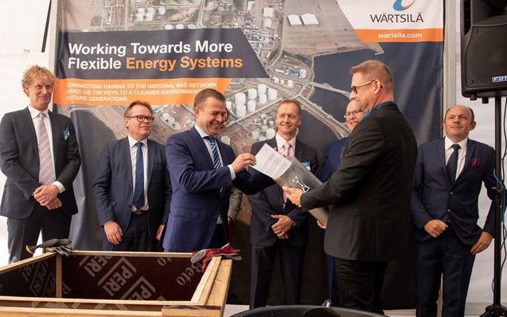 Ground-breaking ceremony held for Wärtsilä built Hamina LNG terminal