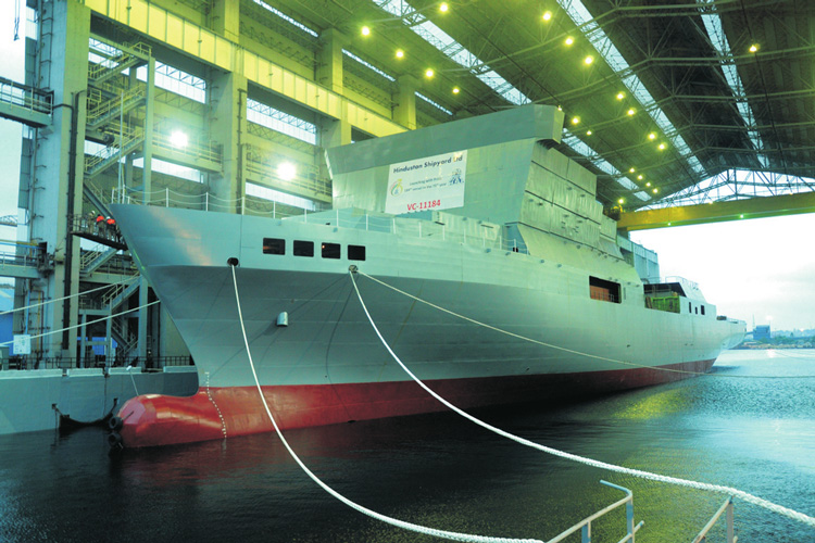 India's first missile tracking ship is readying for sea trials