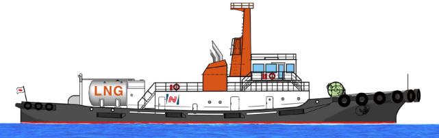 The LNG-fueled tugboat Ishin