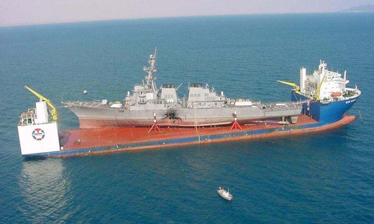 M/V Blue Marlin Heavy Lift Vessel carrying USS Cole