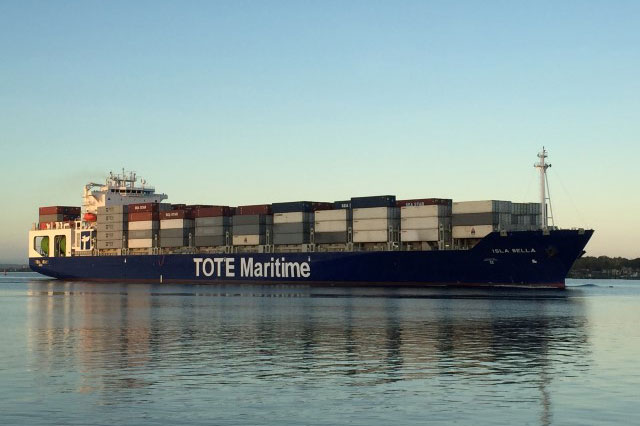 TOTE's world-first, LNG-powered containerships prove reliability of mature, dual-fuel technology