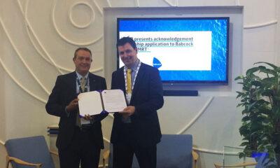 Babcock ecoSMRT receives LR acknowledgement for ship application.