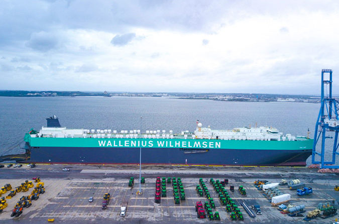 RoRo vessel Salome takes to the seas after green and grey rebrand
