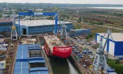 Damen Performs Successful Float-Out Of Antarctic Supply Research Vessel 12