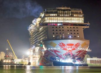 Norwegian Joy Begins Her Journey To China With Conveyance Along The Ems River 5