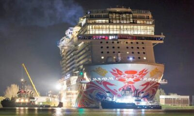 Norwegian Joy Begins Her Journey To China With Conveyance Along The Ems River 12