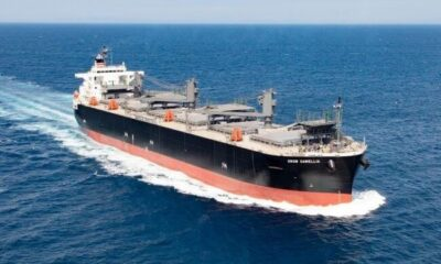 NYK And Hokuetsu Receive Delivery Of New Wood-Chip Carrier 16