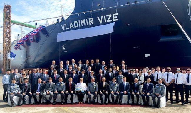 Ice-Breaking LNG Carrier For Yamal LNG Project Named 'Vladimir Vize' 1
