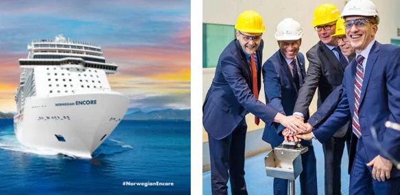 Norwegian Cruise Line Celebrates First Construction Milestone for Newest Ship 1