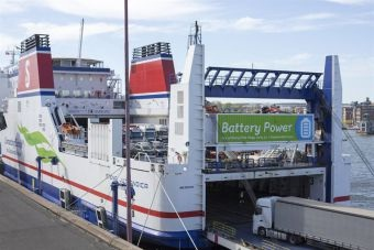 Stena RoPax completes first month of operation as battery hybrid 5