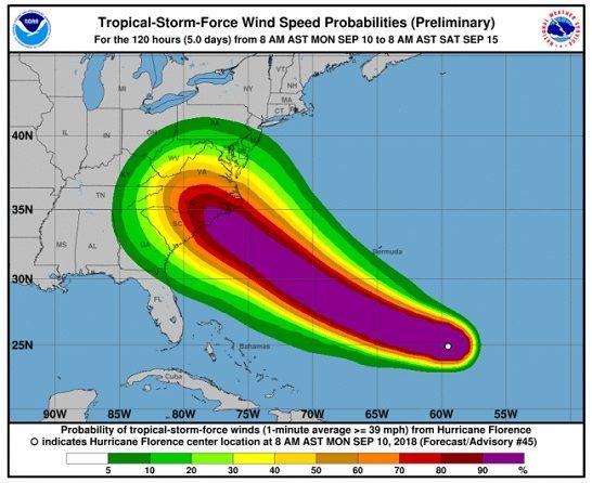 US Navy To Send 30 Hampton Roads Ships To Escape Hurricane Florence