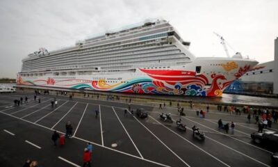 Norwegian Joy, First Custom Designed Cruise Ship for China, Floats Out from Building Dock in Germany 17