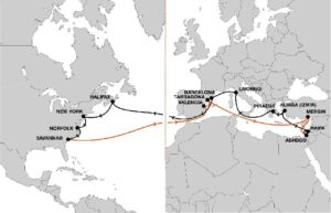 Increased service quality and efficiency with enhanced Mediterranean – U.S. East Coast service 15