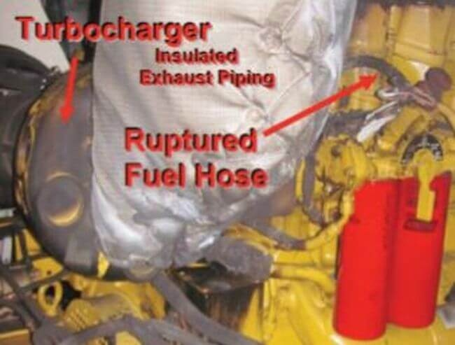 Real Life Incident: Fuel Spray On Hot Surface Leads To Fire In Ship's Engine Room 6