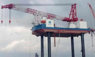 Aqualis Offshore Successfully Completes Jacking Trial Of Wind Turbine Installation Vessel Ouyang 1 5
