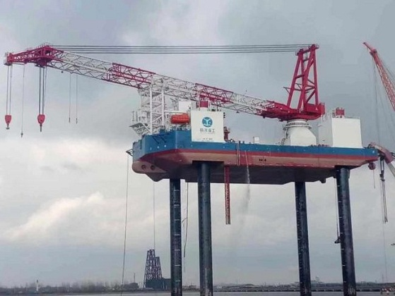 Aqualis Offshore Successfully Completes Jacking Trial Of Wind Turbine Installation Vessel Ouyang 1 1