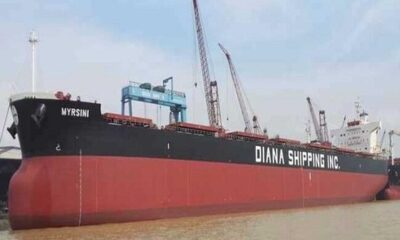 Diana Shipping Inc. Announces Time Charter Contract For M/V Myrsini With Glencore 12