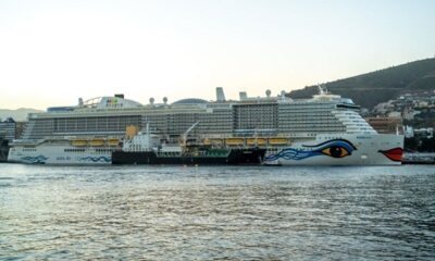 AIDAnova Bunkered with LNG during Maiden Call in Tenerife 5