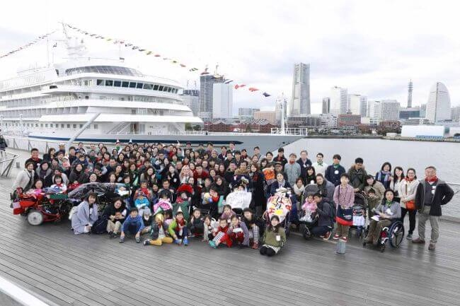 NYK Welcomes Families From Hope&Wish Aboard Christmas-Decorated Asuka II 1