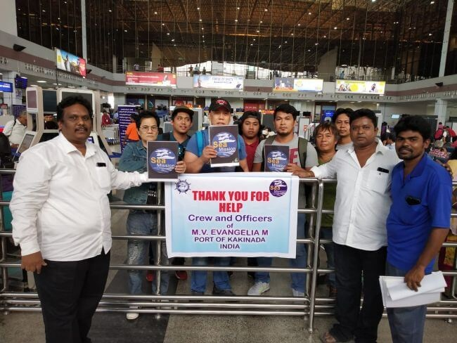 ISWB: Abandoned Crew Of M.V Evangelia M Returns Home After 6 Months 5