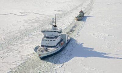 Arctia's Icebreaker Otso Departed As The Season's First Icebreaker 6
