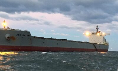 Bulker Refloated after Running Aground off Virginia 7