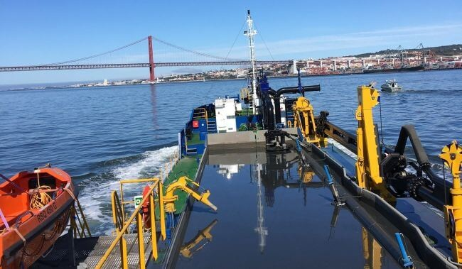 First Hopper Dredger Built At Portuguese Yard For Portuguese Contractor Begins Job 1