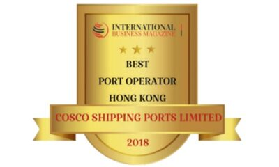 """COSCO SHIPPING Ports Named """"Best Port Operator 2018"""" 5"""