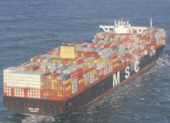 Photos: Over 200 Containers Fall from MSC Zoe amid Heavy Weather 3