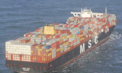 Photos: Over 200 Containers Fall from MSC Zoe amid Heavy Weather 10
