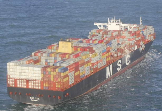 Photos: Over 200 Containers Fall from MSC Zoe amid Heavy Weather 4