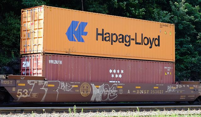 Hapag Lloyd Container Stack Train