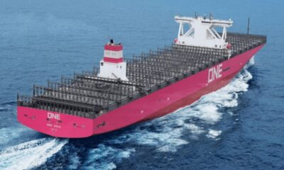 "Ocean Network Express Receives Delivery Of 14,000-TEU Containership ""ONE GRUS"" 4"
