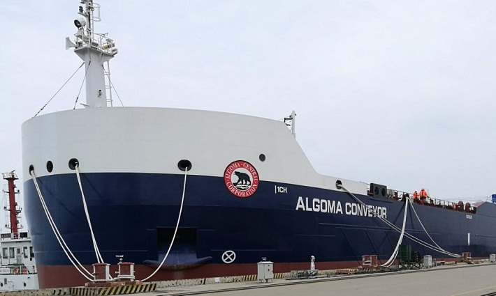Algoma's Newest Self-Unloader Sets Sail for Canada 1