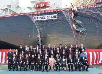 NYK Names New LNG Carrier 'Marvel Crane' At MHI 1
