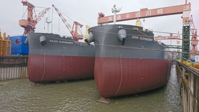 Oldendorff Carriers Receives Delivery Of Five New Eco-Ships 1