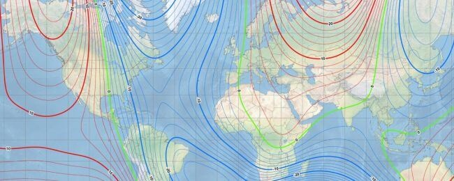 Earth's Northern Magnetic Pole Moving Away From Canadian Arctic 1