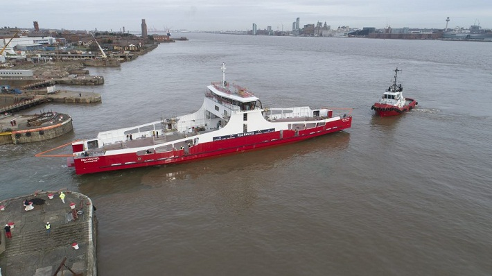 Cammell Laird Splashes New RoRo Ship for Red Funnel 5
