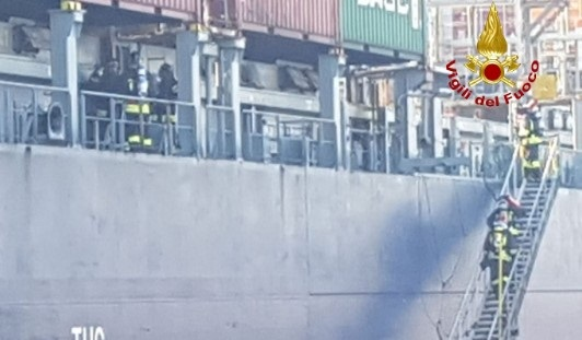 Boxship Stadt Dresden Suffers Main Engine Issues in Venice 5