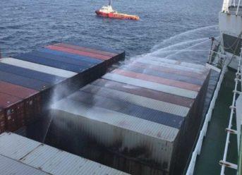 APL Vancouver Fire Under Control off Vietnam 2